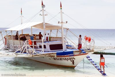 Banca boat to Kalanggaman