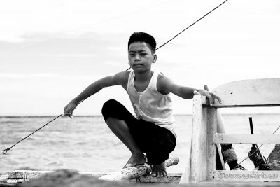 Bantayan Boy on Bangka Boat
