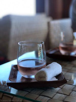 Conrad Bora Bora Nui - Welcome drink