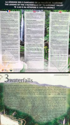 Faarumai Waterfalls information, Tahiti