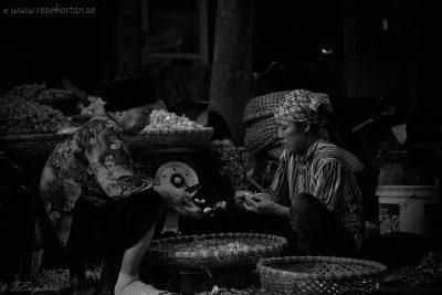 Hanoi women peeling