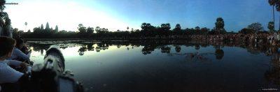 Morning panorama at Angkor Wat