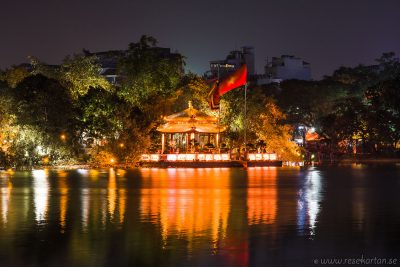 Ngoc Son Temple at night, Hanoi