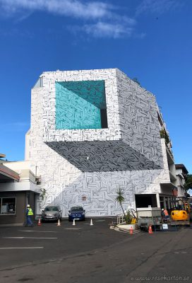 Tahiti street art - 3d wall