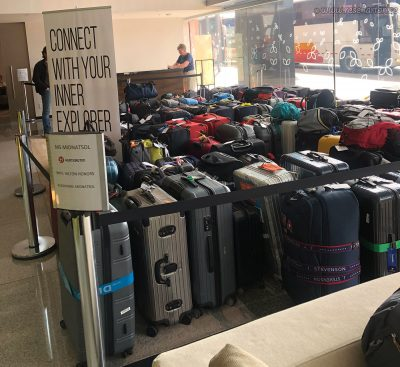 Luggage ready to go to Antarctica