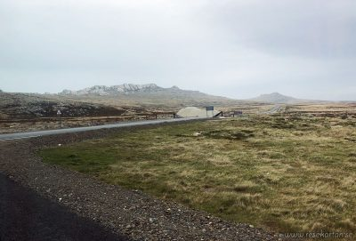 A typical landscape on Falkland Islands