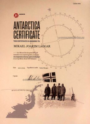 Antarctica Certificate, Hurtigruten