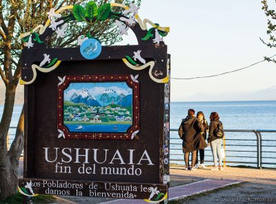 The End of the World sign, Ushuaia